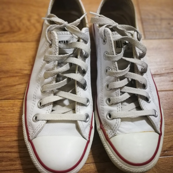 b1af12410179 Converse Shoes - Used white leather Converse shoes